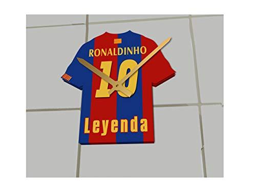 FanPlastic Ronaldinho 10 - Orologio da Calcio con Maglia del Barcellona FC, Edizione Limitata