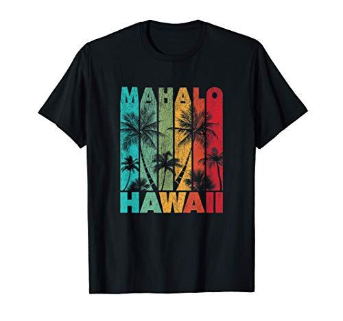 Mahalo Hawaii Pride Shirt Retro Vintage Hawaiihemd verblasst T-Shirt