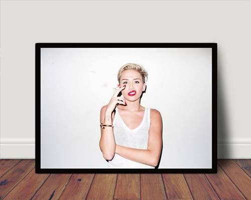 Quadro/Poster C Moldura Miley Cyrus Pop P2123