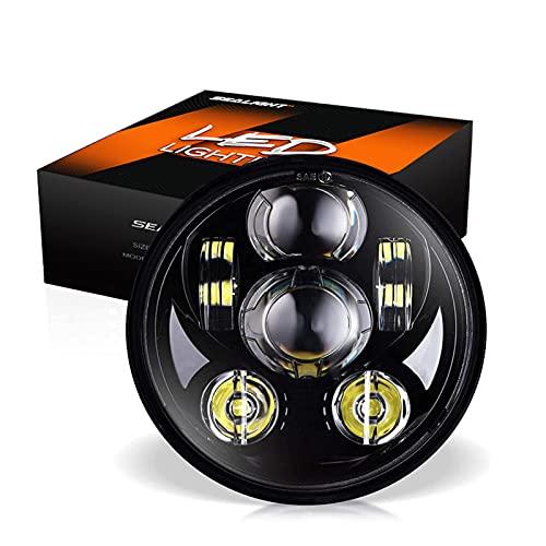 SEALIGHT 5-3/4 5.75-inch LED Headlight for Harley Davidson Motorcycle, LED Projector Headlight