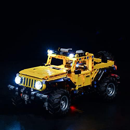 Myste Juego de iluminación LED 42122 para Lego Technik Jeep Wrangler, juego de luz LED compatible con Lego 42122 – Versión clásica (solo incluye LED, no incluye el kit Lego)