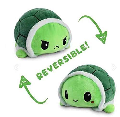 VigorY Juguete creativo de doble cara de tortuga plegable de doble cara de peluche de pulpo muñeca de doble cara, adecuado para cada día festivo para proporcionar sorpresas para bebés, niñas,