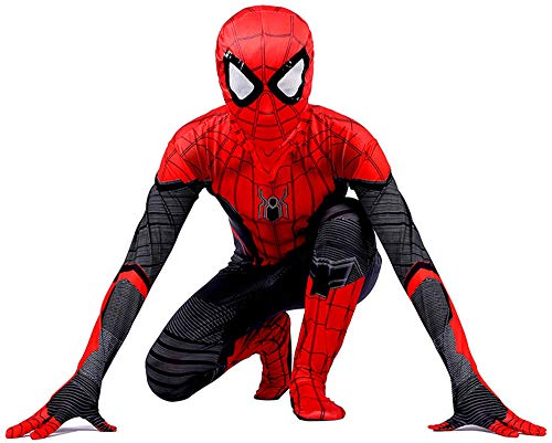 Disfraz Spiderman Niño, Spiderman Disfraz Niño, Halloween Carnaval Homecoming Superheroe Spiderman Mascara Niño Cosplay Suit Traje De Spiderman Niño, Disfraz De Spiderman Niño,RedBlack-XXS(92cm~102cm)