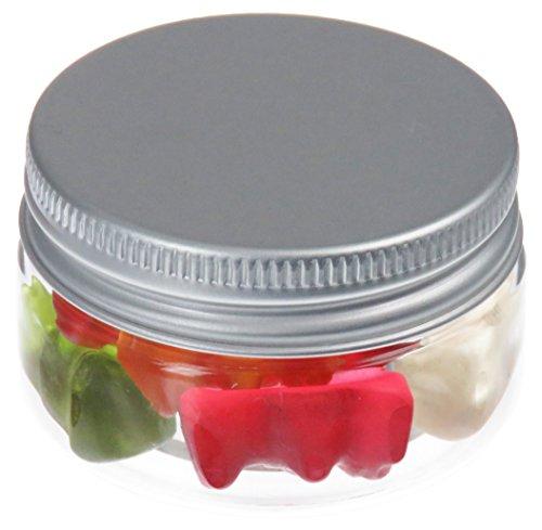 Pot de PET 25 ml transparent, avec couvercle en aluminium, 50 pièces