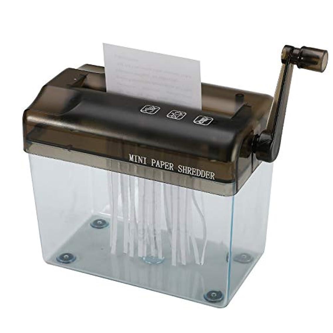 スティーブンソンフラップ理解ミニ手作りシュレッダー、機械デスクトップマニュアル紙ストレート切削工具紙オフィスホームスクールのための工作機械切削
