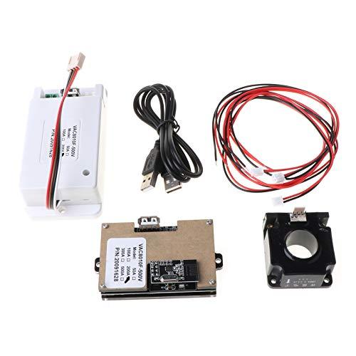 kdjsic DC 500V 100A 200A 500A Voltímetro inalámbrico Amperímetro Coulómetro Medidor de Potencia de la batería