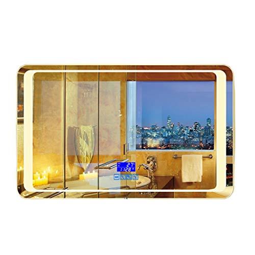 Miroirs Le A Mené Le De Salle De Bains De Suspension De Mur De De Salle De Bains Anti-buée avec La Lumière Carrée Smart Mirror Bluetooth Light Mirror