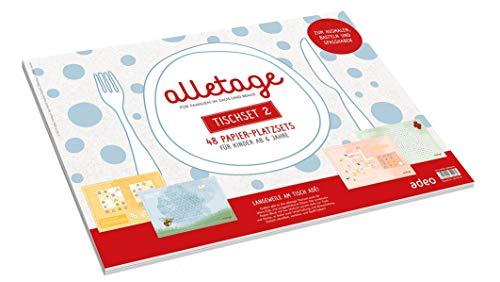 alletage - Tischset 2: 48 Papier-Platzsets für Familien in Saus und Braus