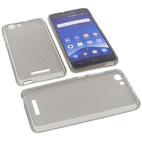 foto-kontor Tasche für Mobistel Cynus F10 Gummi TPU Schutz Handytasche grau