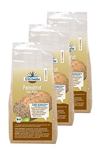 bon comparatif Erdschwalbe Paleo Glutenbrot est un mélange de farine pour pain bio.  Faible teneur en glucides… un avis de 2021
