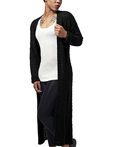 Urban Classics Damen Ladies Boucle Cardigan Cape, Schwarz (black 7), Medium