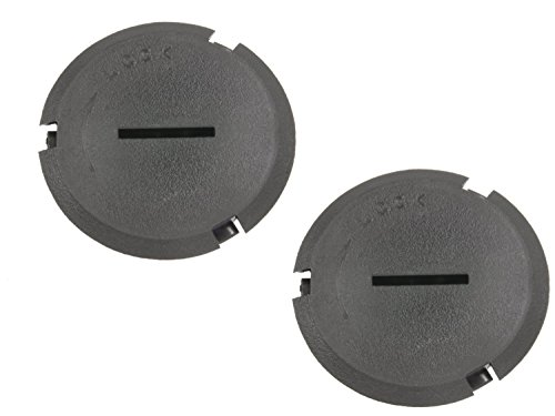 1999 2000 2001 2002 2003 2004 Corvette C5 Headlight Adjuster Plastic Hole Plugs Covers Black by Southern Car Parts