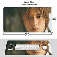 滝沢秀明 マウスパッド 光学マウス対応 パソコン 周辺機器 超大型 防水 洗える 滑り止め 高級感 耐久性が良い 40*75cm