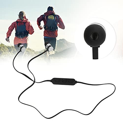 Eosnow Auricular con Banda para el Cuello, Sonido Envolvente estéreo Conveniente para Usar Auricular montado en el Cuello para Juegos(Silver)