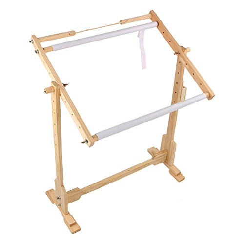 Bastidor para Bordar Soporte de pie de madera para punto de cruz y bordado de Yosoo, S:60x40x75cm
