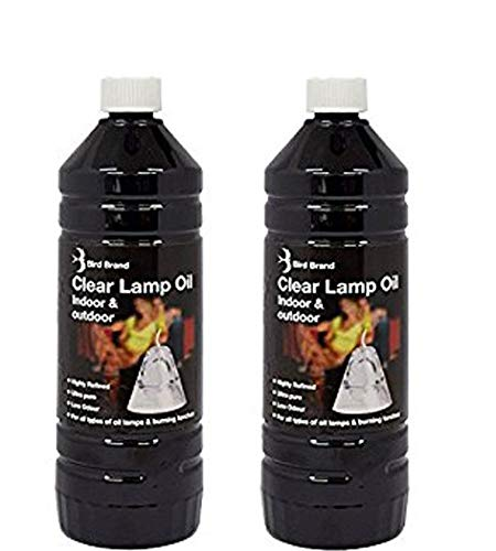 Indoor Lamp Oil X 2 Premium 1Ltr Refined Lantern, Lamp Torch Oil. Ideal for Indoor or Outdoor Events