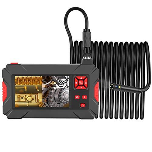 Industrie endoskop Kamera Mit Zwei Objektiven, Inspektionskamera Für Motorwartung, 4,3 Zoll HD Schlangenkamera, IP68 Wasserdichtes Endoskop, Zur Autoreparatur (Color : Dual Lens, Size : 2m)