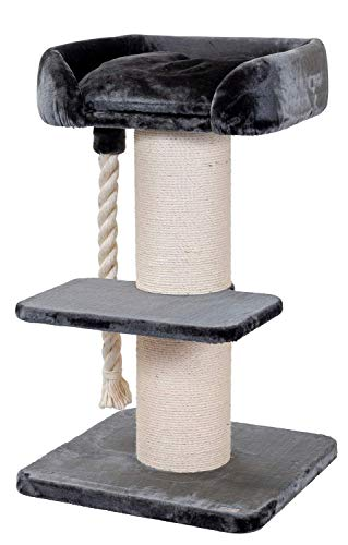 PETGARD Kratzbaum Kletterbaum Katzenkratzbaum Ruffles grau speziell für große und schwere Katzen