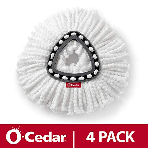 O-Cedar EasyWring Spin Mop Microfiber Refill (Pack of 4)
