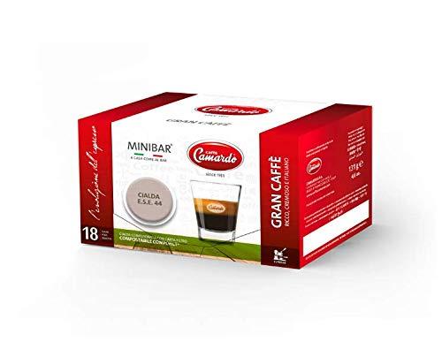 CAFFÈ CAMARDO - 36 monodosis compostables de Gran Caffè - Espresso rico y cremoso - Monodosis de Café - 2 cajas de 18 monodosis - MADE IN ITALY