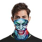 Joker - Pañuelo de cuello de enfriamiento para la cara, transpirable, para el cuello, protección UV, para hombres y mujeres al aire libre