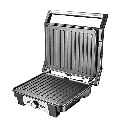 Panini Sandwich Press, 2000W High Power Sandwich Toaster Maker, Non-Stick Coated Plates,Easy to...