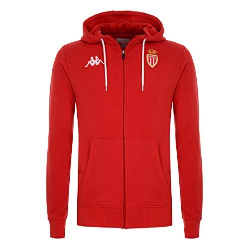 Kappa - Sweatshirt Aigrut As Monaco - Man - L - Rouge, Blanc