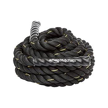 Amazon Basics 1.5 Inch Heavy Exercise Training Workout Battle Rope - 344 x 1.5 Inch Black