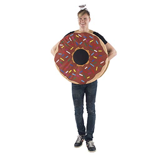 Dress Up America Sprinkle Doughnut Costume For Adults Accesorios de Disfraz, Multicolor, Talla nica Unisex Adulto
