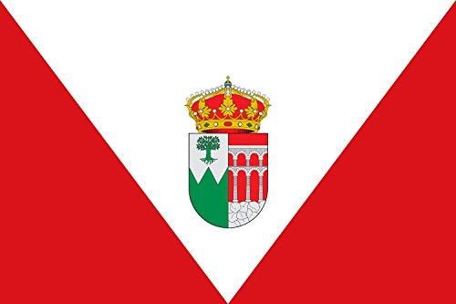 magFlags Bandera Large De Proporciones 2 3. Paño Rojo con un triángulo Blanco Que Tiene Sus vértices en los ángulos Superiores del asta y del batiente | Bandera pa