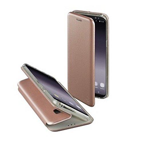 Hama Schutzhulle Curvee fur Samsung Galaxy S9 magnetisches TPU Terrmoplastisches Polyurethan PU Leder PU drahtloses Aufladen kabelloses Laden Rosegold