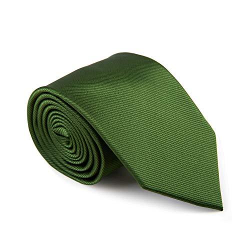 GENTSY ® Herren Handgefertigte Krawatte Standardbreite 8cm oder Schmale 6cm - Einfarbig Farben (K18 Grün)