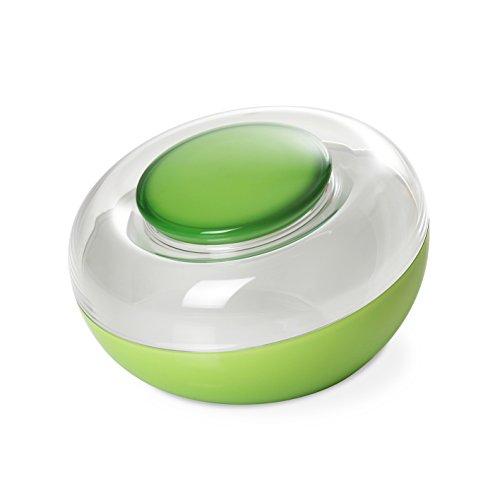 Omada Design verschließbare Keksdose aus unzerbrechlichen und zweifarbigen Kunststoff, Fassungsvermögen von 2,70 L, Kekshalter mit luftdichten Deckel, Made in Italy, Linea Movida, Grüne Farbe