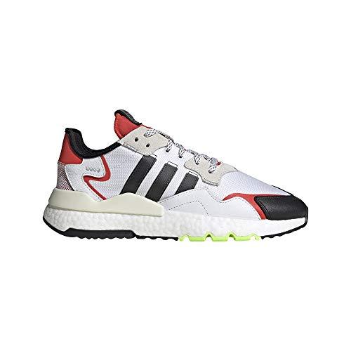adidas Hombre Nite Jogger Zapatillas Blanco, 42 2/3