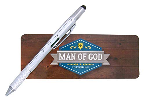 Father's Day for Dad, Man of God Stylus Pen with Bookmark, 6 Inch