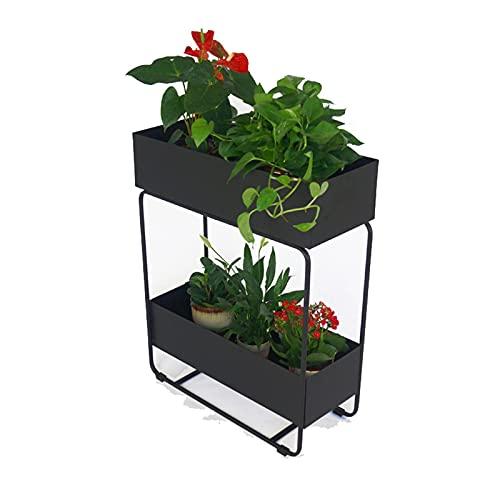 Qks Caja de jardín de jardín Elevado Caja de jardín al Aire Libre de Metal al Aire Libre Cama de jardín para Verduras Flower Flower Patio Patio Piso de pie Stand Stand Stand Stand