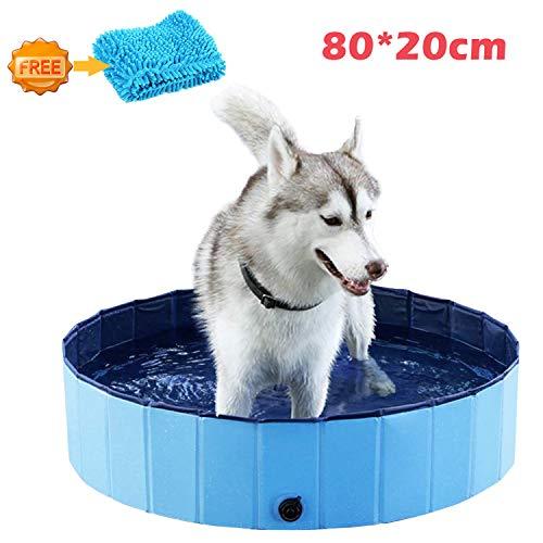 xuehaostore Piscina para Perros Plegable, Bañera para Perros Gatos, N