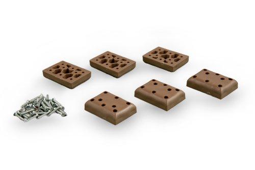 LILIMO Strandkorb Kunststoff-Gleiter-Set, 6er-Set