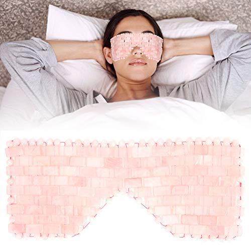 Masque pour les yeux en jade, pierres de jade anti-âge, masque pour les yeux de sommeil, traitement au froid, traitement des yeux, masseur, couvre-yeux pour soulager la fatigue oculaire(Quartz rose)