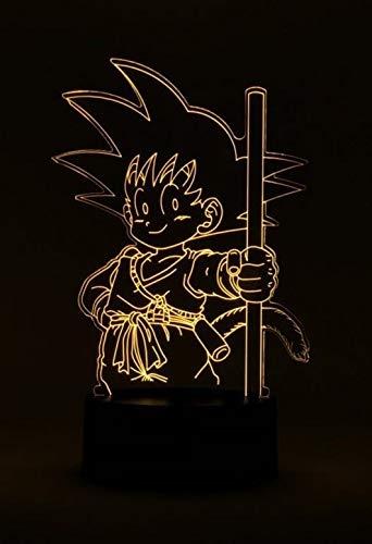 Dragon Ball Son Goku de fuerza Lámpara de mesa Led Luces de la noche Habitación Iluminación decorativa Led luz de la noche 3D lámpara de escritorio decoración dormitorio niños