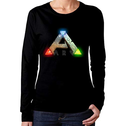 Mark Stars T-Shirt Sportiva da Donna a Manica Lunga Ark-Survival-Evolved per Donna(M,Nera)