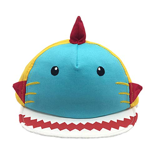 PinkLu Sombrero Bebe niño Dibujos Animados Tiburón Gorra Verano Visera Sombrero Paja niño(6 meses-24 Meses)
