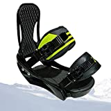 SCXLF Portátiles Fijaciones de Tabla Snowboard, Fijaciones de Tabla Esquí con Correa Ajustable, Soporte de Tabla Nieve Actualizado 2020, Equipo de Esquí Duradero,M:(34~39)