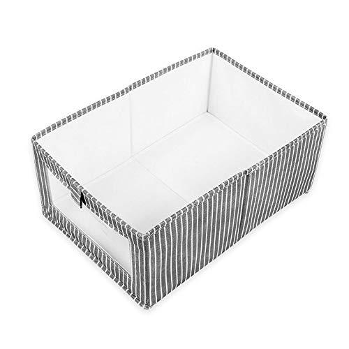 Tipo de caja de almacenamiento caja de almacenamiento cajón de zapatos artículos de uso doméstico plegable de terminar la ropa del armario vida no tejidas ( Color : Black stripes , Size : 27*15*17cm )