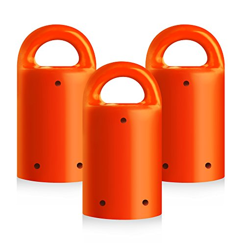 MagnetPal 3 pack Heavy-Duty Neodymium Anti-Rust Magnet, Best for Magnetic Stud Finder / Key Organizer / Indoor and Outdoor Multi Uses, Orange with Key Ring (SP-MPM3OR)