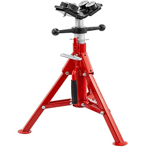 Mophorn Pipe Jack Stand With 4-Ball Transfer V-Head and Folding Legs 4500LB Welding Pipe Stand Adjustable Height 20-37IN 1107C-type Pipe Jacks for Welding