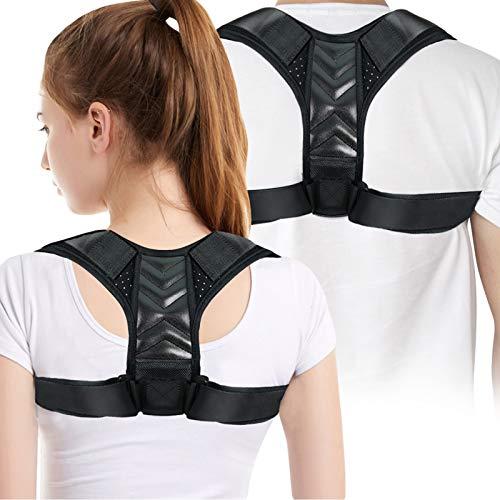 Corrector Postura Espalda,Corrector de Postura,Ajustable Mejorar Posture Corrector es Ideal para Aliviar los Dolores Dorsales, Thoraciques, Cuello y Hombros
