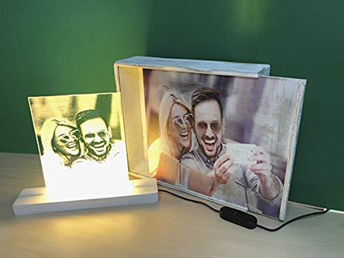 LAMPARA PERSONALIZADA CON TU FOTO (Lámpara + Caja)