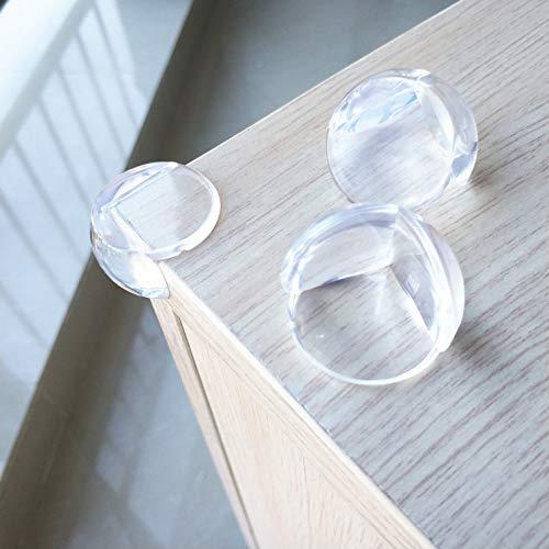 *Eckenschutz*Kantenschutz von Catoxx - transparent für Tisch- und Möbel-Ecken - Stoßschutz für Baby's und Kinder (12 Stück/pcs. Rund)