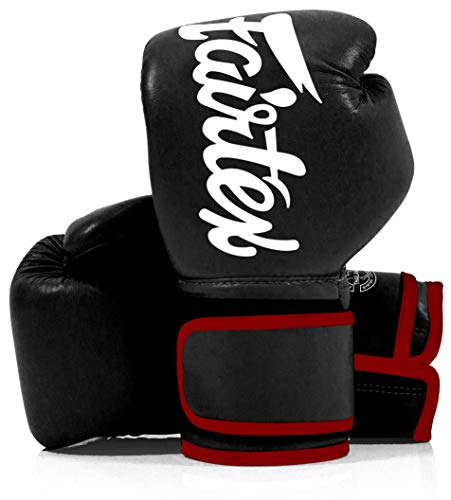Fairtex Tight Fit Boxhandschuhe Leder Schwarz 16 oz.